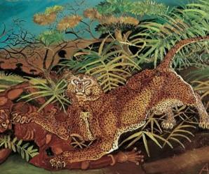 Ligabue Leopardo con indigeno