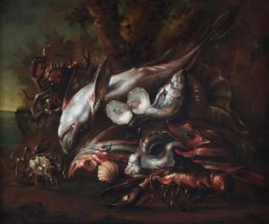 Recco Natura morta con pesci