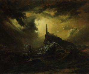 blechen-carl-stuermische-see-mit-leuchtturm-785549