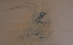 Massimo Rao, Chi mi descriverà dunque il suo volto?, 1986, Olio su tavola, 9x11 cm, Pinacoteca Massimo Rao, San Salvatore Telesino (BN)