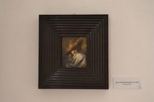 Massimo Rao, Par les dieux jumeaux tous les monstres ne sont pas en Afrique, 1983, Olio su tela 37x15 cm, Pinacoteca Massimo Rao, San Salvatore Telesino (BN)