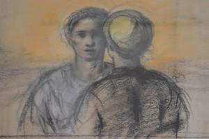 Massimo Rao, Senza titolo (particolare), Tecnica mista, 74,5x61 cm, Pinacoteca Massimo Rao, San Salvatore Telesino (BN)