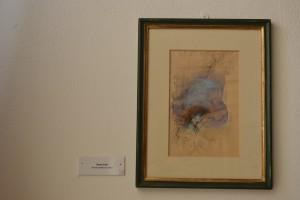 Massimo Rao, Senza titolo, 1991, China e acquerello su carta, 15x23 cm, Pinacoteca Massimo Rao, San Salvatore Telesino (BN)